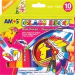 AMOS Üvegfóliafesték készlet, 10 különböző szín