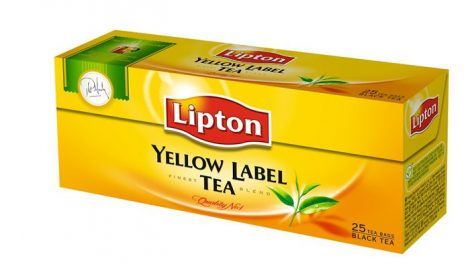 "LIPTON Fekete tea, 25x2 g, LIPTON ""Yellow label"""