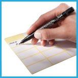Kézzel írható címkék