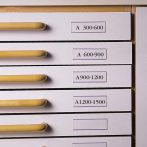 3L Címketartó zseb, 30x150 mm, öntapadó, fiókhoz, 3L