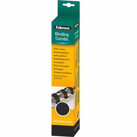 FELLOWES Spirál, műanyag, 8 mm, 21-40 lap, FELLOWES, 25 db, fekete