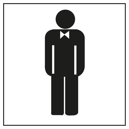 APLI Információs matrica, férfi mosdó, APLI