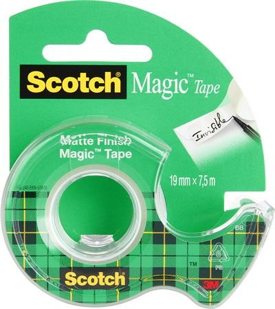 "3M SCOTCH Ragasztószalag, adagolón, kézi, 19 mm x 7,5 m, 3M SCOTCH ""Magic Tape 810"""