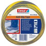 """TESA Csúszásgátló szalag, 50 mm x 15 m, TESA """"Anti-Slip"""", fekete-sárga"""