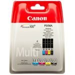 CANON CLI-551KIT Tintapatron multipack Pixma iP7250, MG5450 nyomtatókhoz, CANON, b+c+m+y, 4*7ml