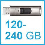 120-240 GB-os külső SSD meghajtók, USB