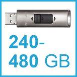 240-480 GB-os külső SSD meghajtók, USB