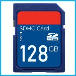 128GB-os Secure Digital (SD) kártyák